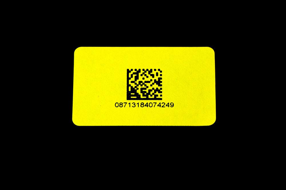 Scelta del codice a barre per etichette